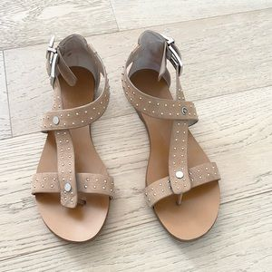 Vince Camuto studded leather sandals tan size 6.5